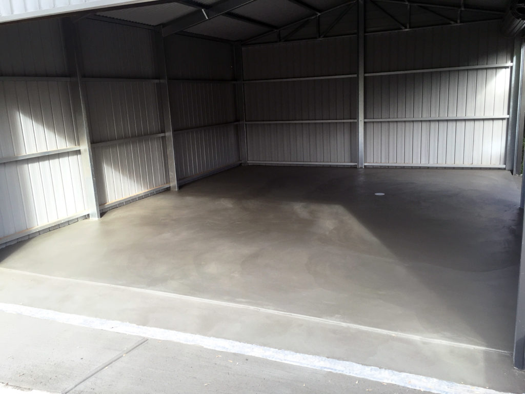 Concrete garage shed floors adelaide concrete for Garage flooring adelaide